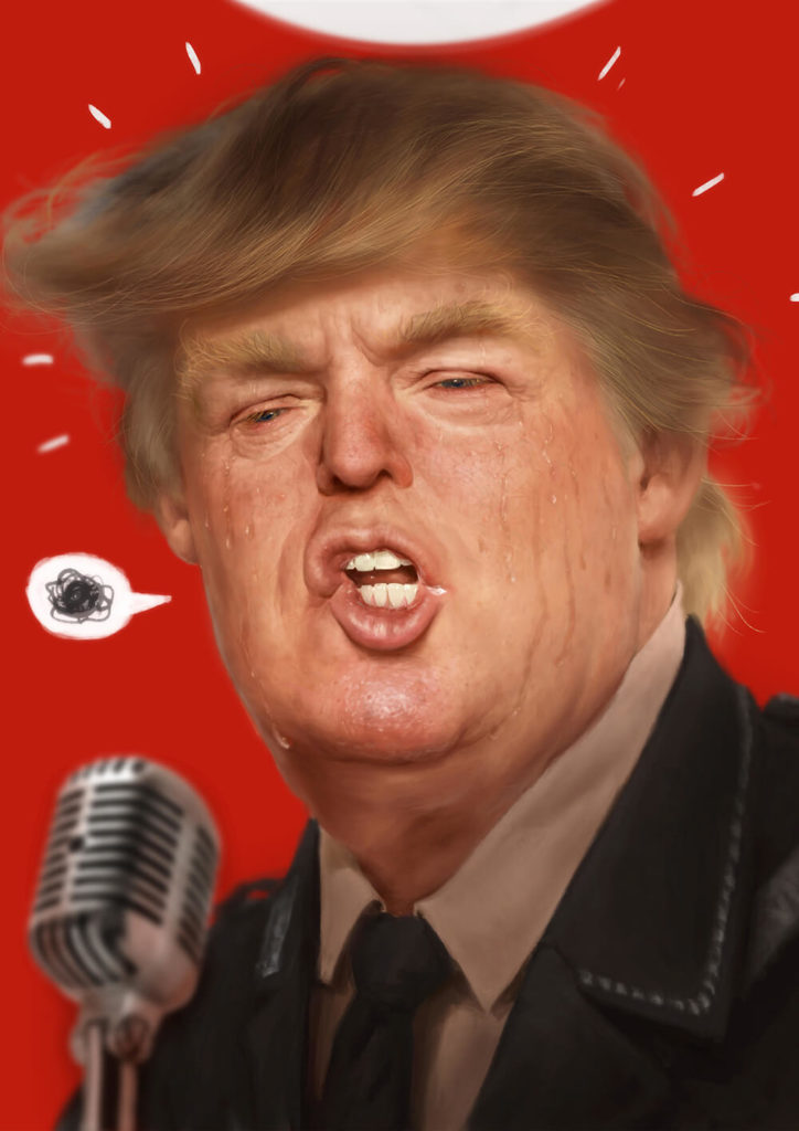 Caricatura Dibujo pintura digital Donald Trump| Diego Catalan Amilivia Dibujante Pintor