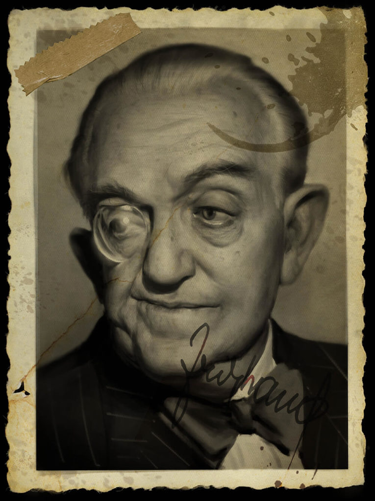 Caricatura Dibujo pintura digital Fritz Lang | Diego Catalan Amilivia Dibujante Pintor
