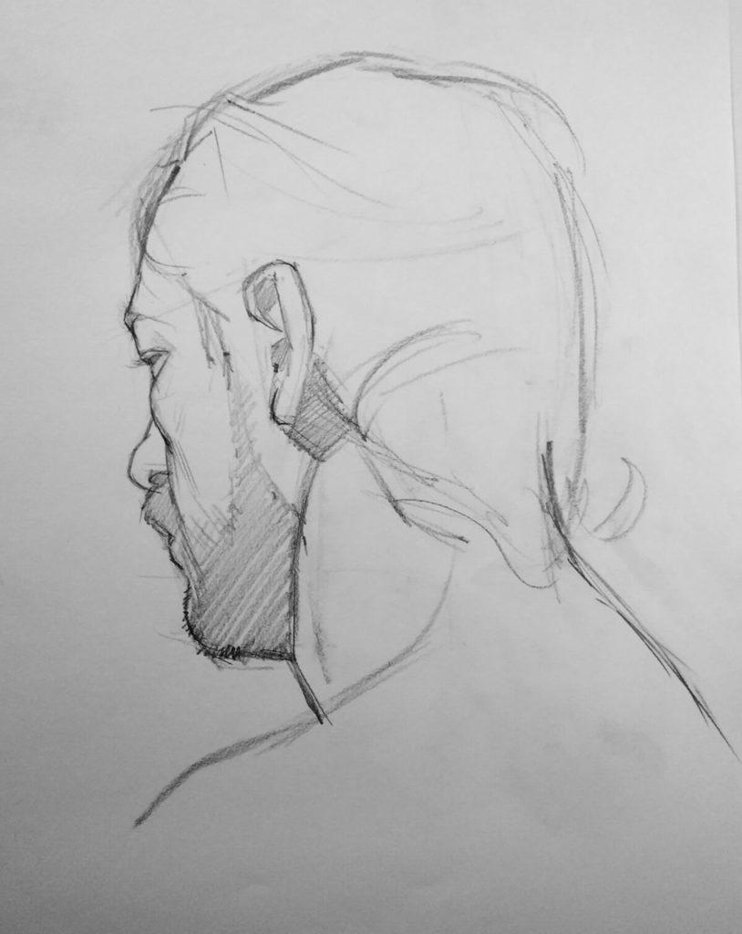 Dibujo Boceto Hombre | Diego Catalan Amilivia Dibujante Pintor