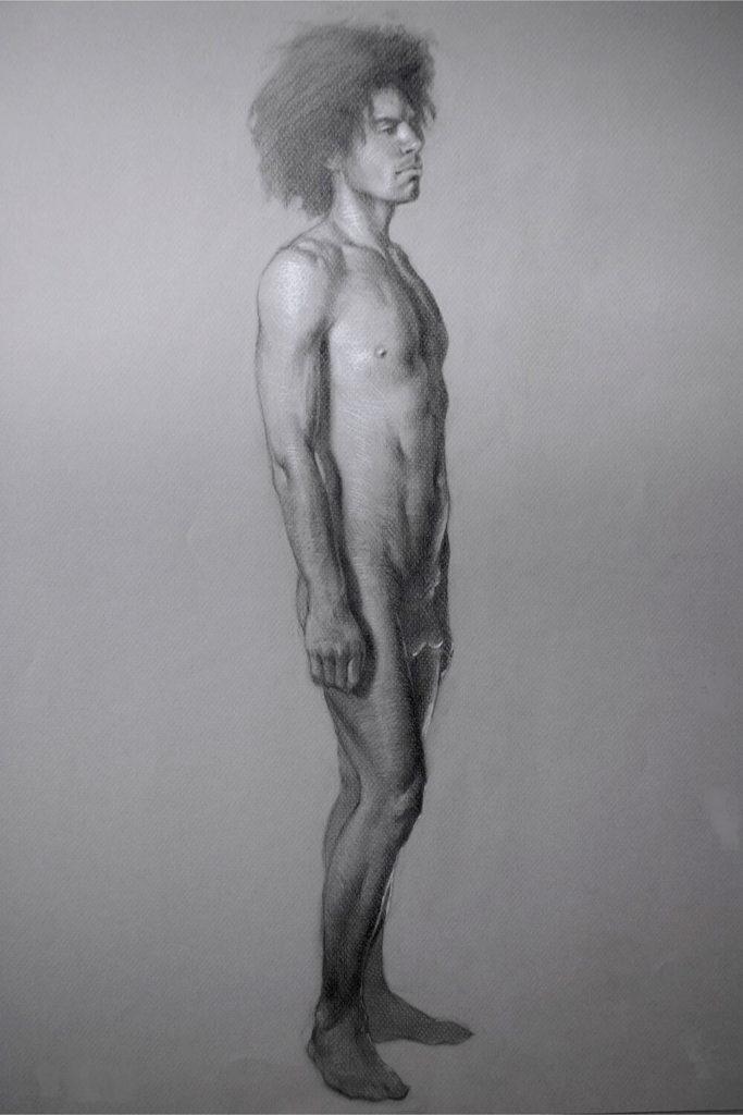 Dibujo de modelo Figura Hombre | Diego Catalan Amilivia Dibujante Pintor