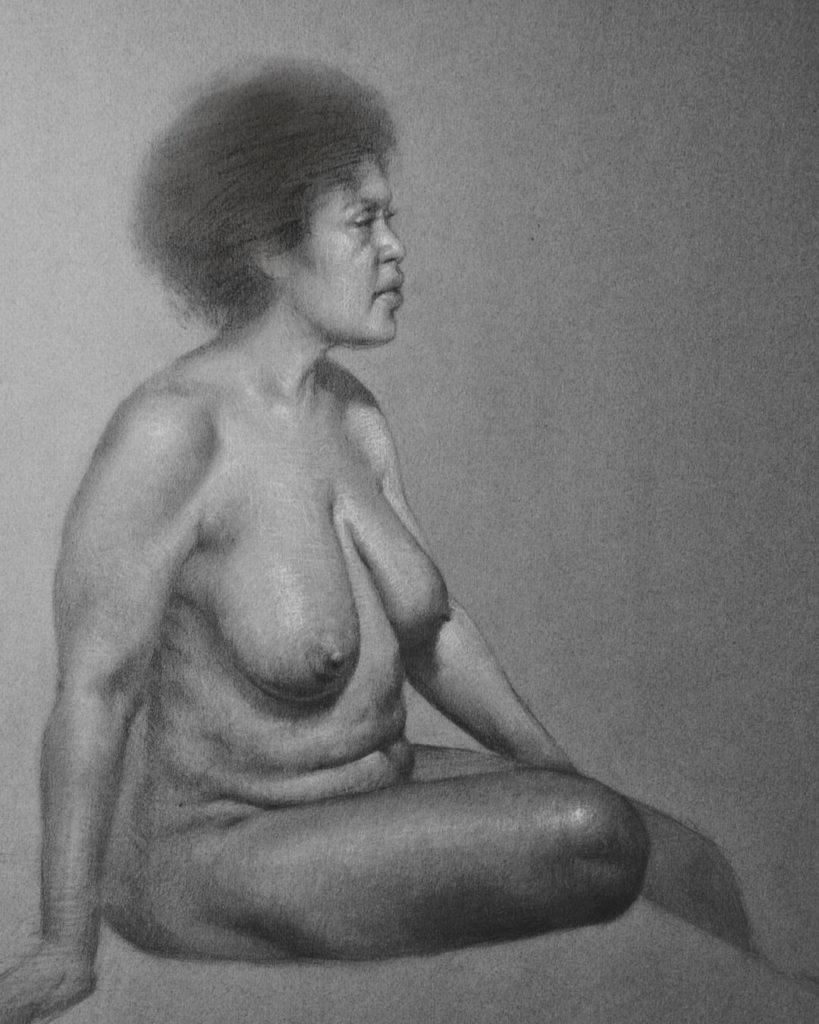 Dibujo de modelo Figura Mujer | Diego Catalan Amilivia Dibujante Pintor