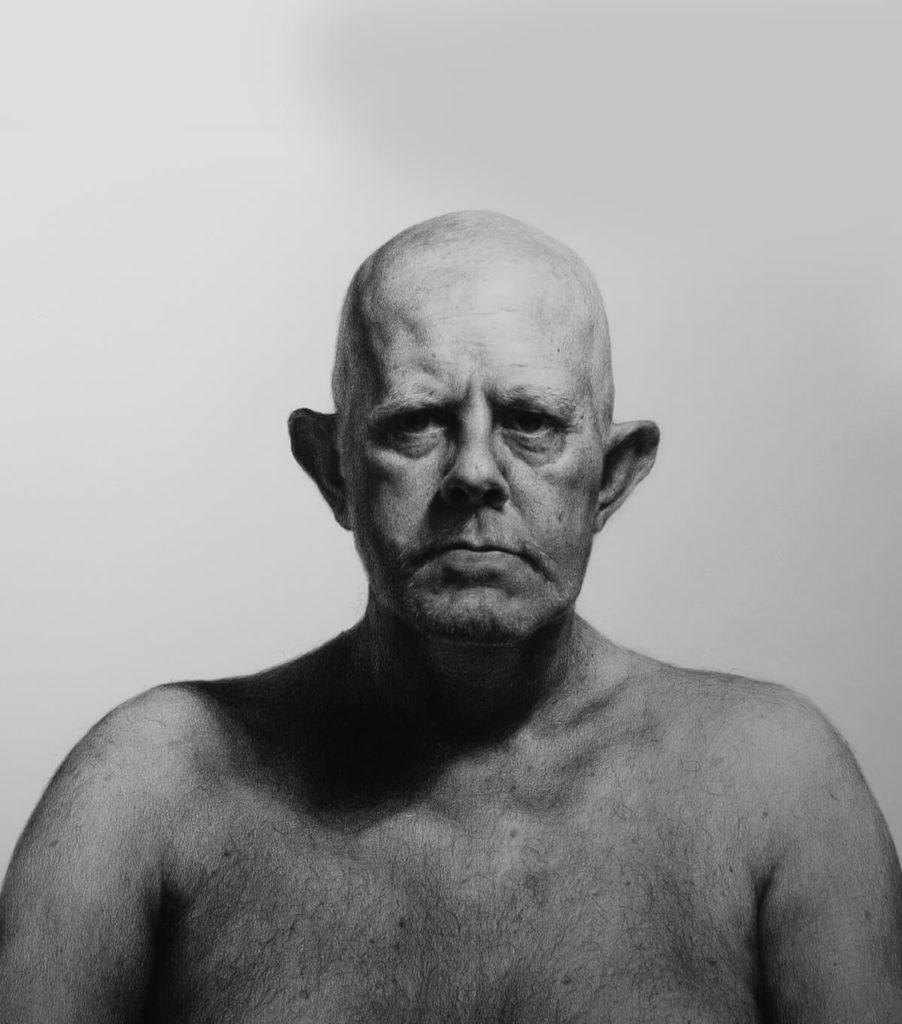 Dibujo Retrato Lapiz de padre Mike Catalonian | Diego Catalan Amilivia