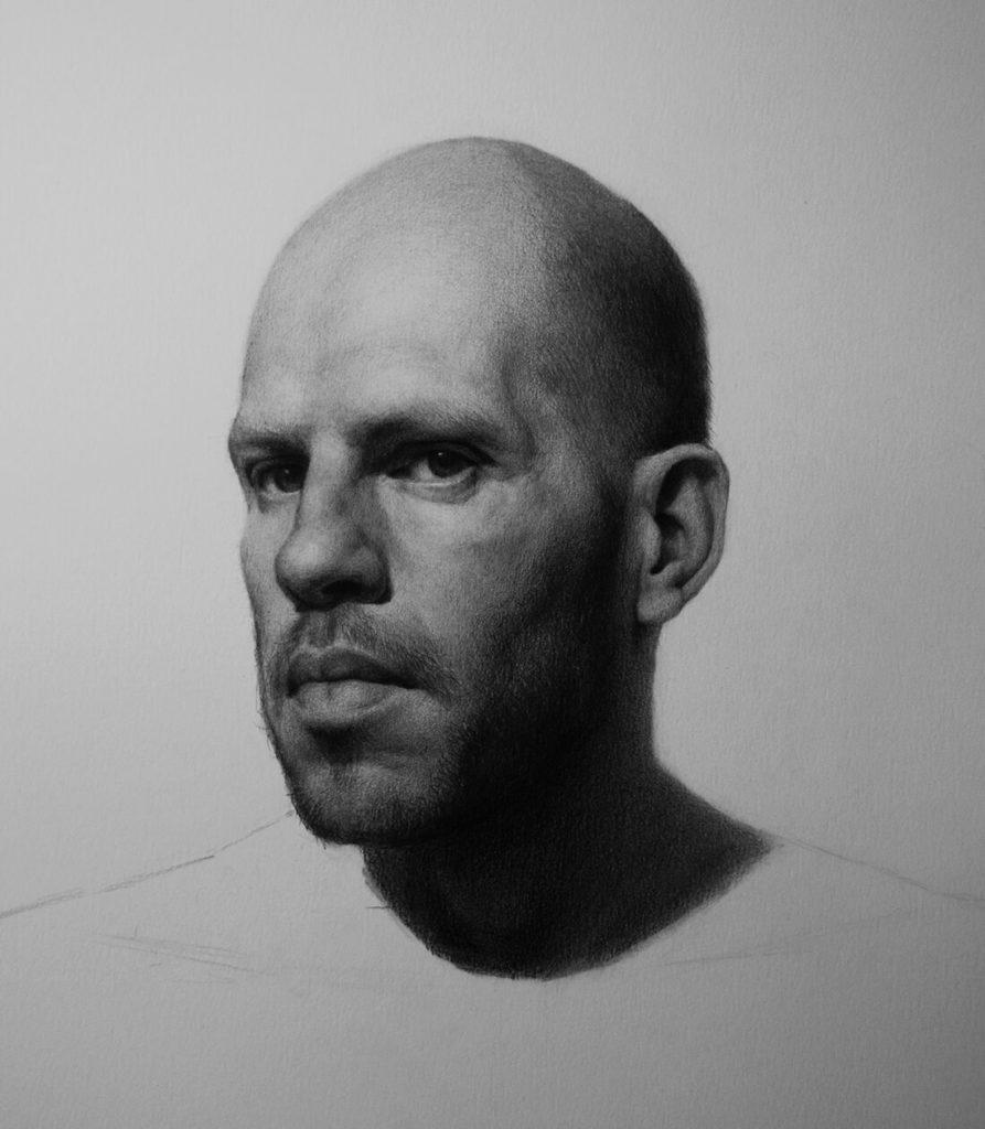 Dibujo Retrato Lapiz hombre | Diego Catalan Amilivia