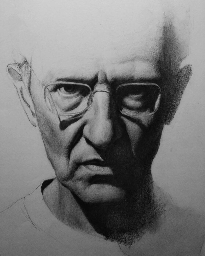 Dibujo Retrato Moebius dibujante comics | Diego Catalan Amilivia