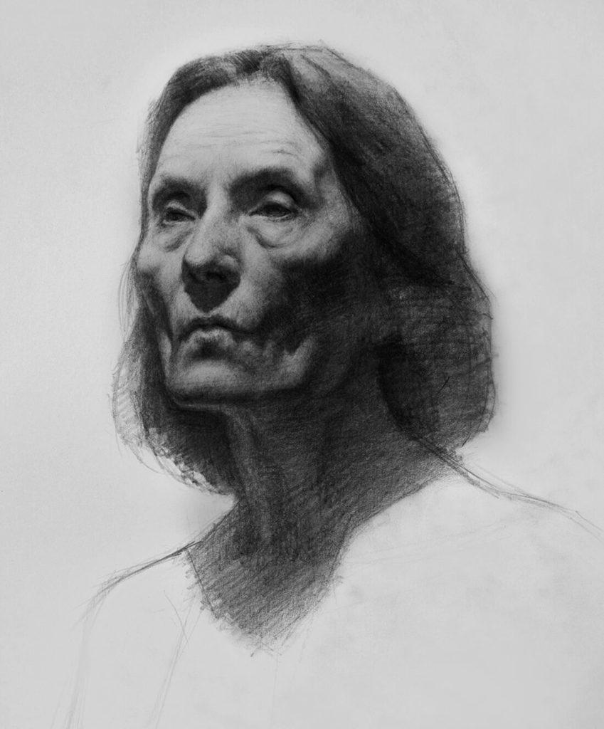 Dibujo Retrato Lapiz mujer | Diego Catalan Amilivia Dibujante Pintor