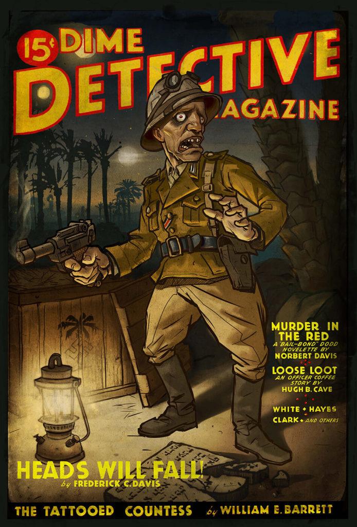 Ilustración digital Pulp Magazine Vintage | Diego Catalan Amilivia