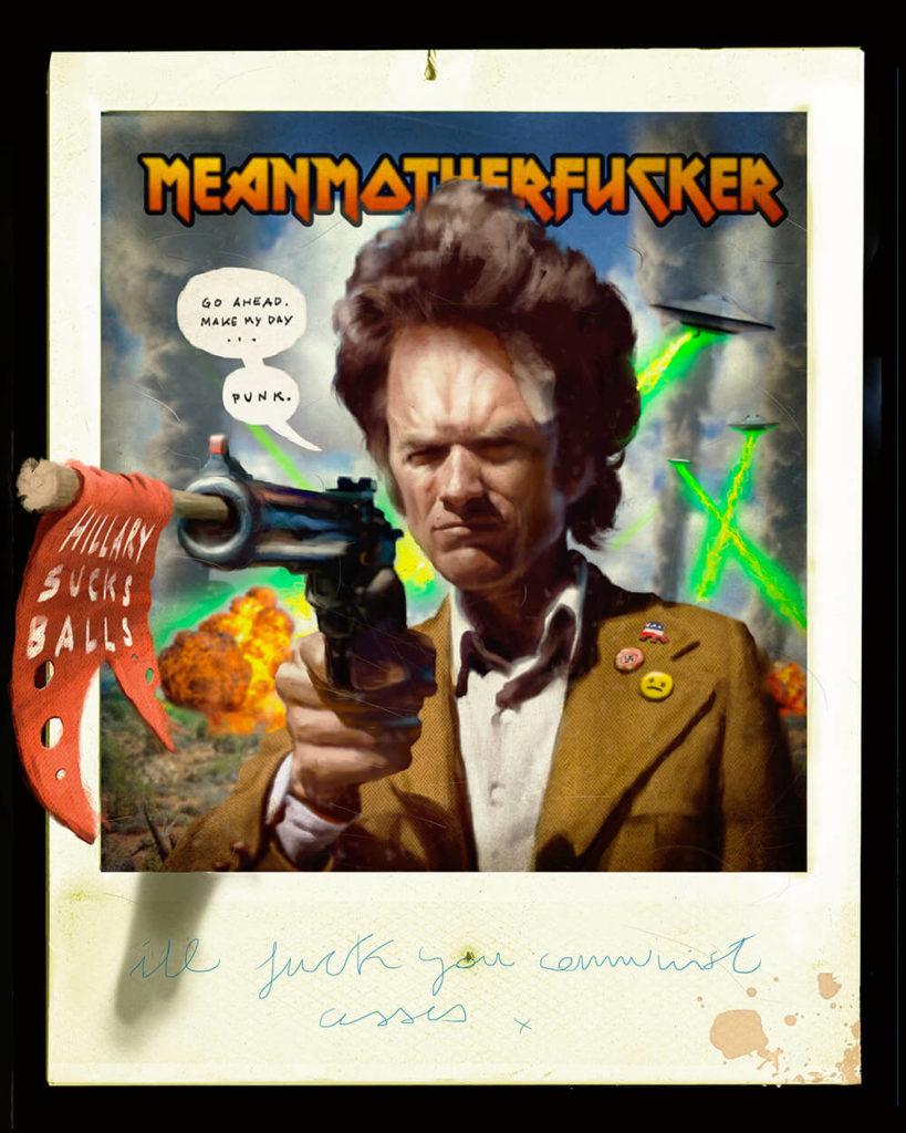 Ilustración Pintura digital Pulp Clint Eastwood | Diego Catalan Amilivia