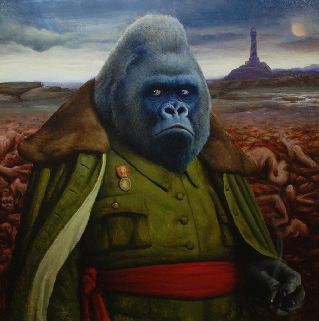 Ilustración Pintura Oleo Gorilla Realista | Diego Catalan Amilivia