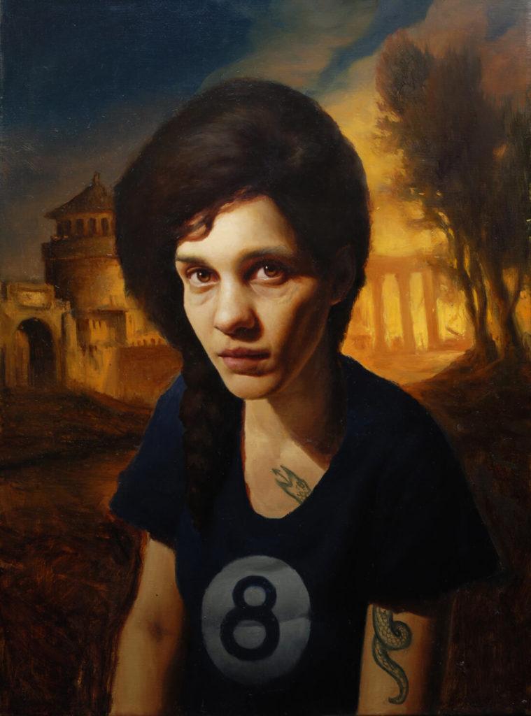 Ilustración Pintura Oleo Retrato mujer Realista | Diego Catalan Amilivia