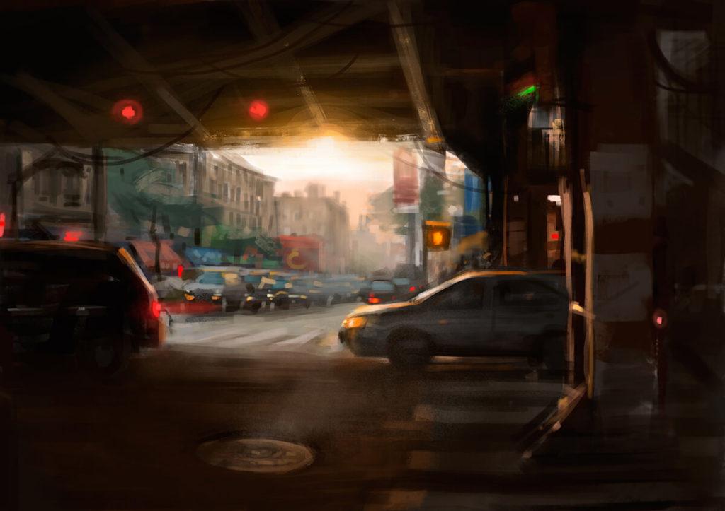 Bodegon Pintura al Oleo Paisaje urbano Brooklyn | Diego Catalan Amilivia Dibujante Pintor