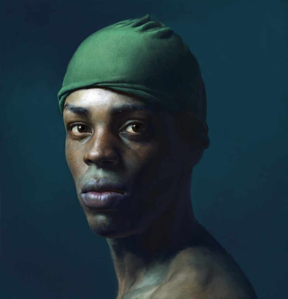 Retrato de nadador Pintura Digital   Diego Catalan Amilivia