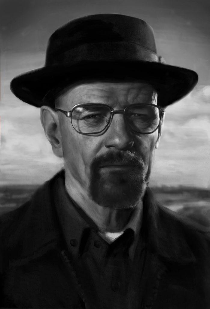 Retrato de Walter White Pintura Digital | Diego Catalan Amilivia
